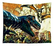 Escape From Jurassic Park Tapestry