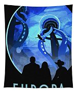 Europa Space Travel Tapestry