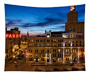 Evening At Pabst Tapestry