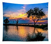 Evening At Riverwinds Tapestry