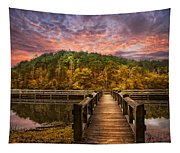 Evening At The Lake Tapestry