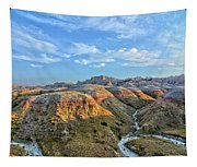 Evening At Yellow Mounds 2 Tapestry