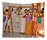 Evening Bells At The Temple Tapestry