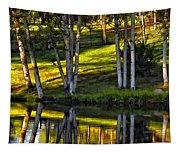 Evening Birches Tapestry