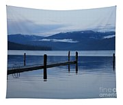 Tranquil Blue Priest Lake Tapestry