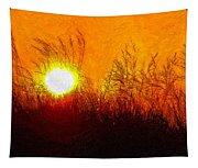 Evening Dunes Impasto Tapestry