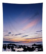 Evening Glow At Makena Tapestry