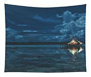 Evening In The Lagoon Tapestry