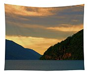 Evening Light At Lake Crescent Tapestry