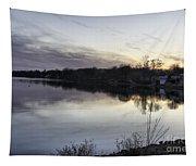 Evening Light On Lake Champlain Tapestry