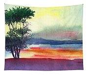 Evening Lights Tapestry