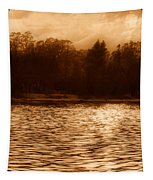 Evening On The New York Shore Tapestry