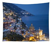 Evening Over Positano Tapestry