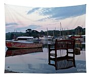 Evening Spring Tide In Mylor Bridge Tapestry