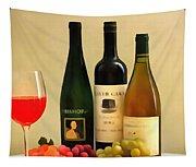Evening Wine Display Tapestry