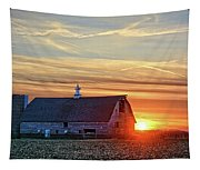 Evergreen Sunset Tapestry
