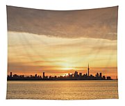 Every Morning Is Different - Toronto First Sunrays In Cyber Yellow  Tapestry
