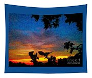 Exagerated Sunset Painting Tapestry