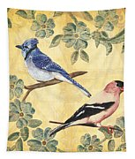 Exotic Bird Floral And Vine 1 Tapestry