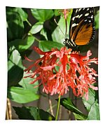 Exotic Butterfly On Flower Tapestry