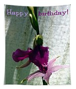 Exotic Purple Birthday Wishes Tapestry