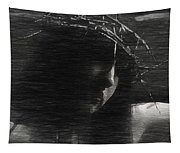 Experimental Portrait Of A Female Jesus Tapestry