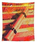 Explosive Comic Art Tapestry