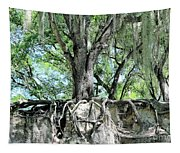 Exposed - Oak Roots Tapestry