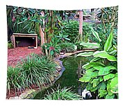 Expressionalism Beautiful Garden  Tapestry