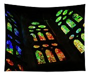 Exuberant Stained Glass Windows Tapestry