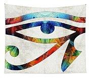 Eye Of Horus - By Sharon Cummings Tapestry