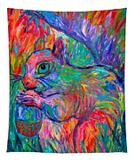 Eye Of The Squirrel Tapestry
