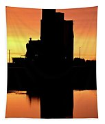 Eyebrow Gain Elevator Reflected Off Water After Sunset Tapestry