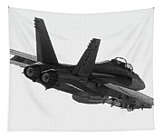 Fa-18 In Black And White Tapestry