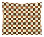 Fabric Design Mushroom Checkerboard Abstract #2 Tapestry