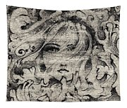 Face In The Storm Tapestry