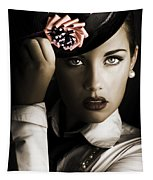 Face Of Dark Fashion Tapestry
