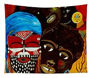 Faces Of Africa Tapestry