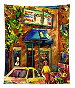 Fairmount Bagel In Montreal Tapestry