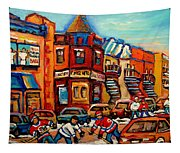 Fairmount Bagel With Hockey Tapestry