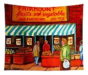 Fairmount Fruit And Vegetables Tapestry