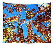 Fall Apricot Leaves Tapestry