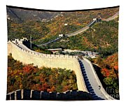Fall Foliage At The Great Wall Tapestry
