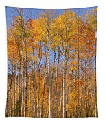 Fall Foliage Color Vertical Image Tapestry