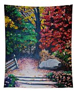 Fall In Quebec Canada Tapestry