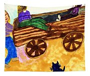 Fall Wagon Ride Tapestry