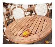 Fallen Yellow Autumn Leaf Tapestry