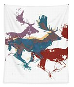 Fallow Bucks Tapestry by Mark Adlington