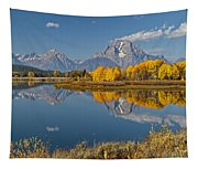 Falltime At Oxbow Bend Tapestry