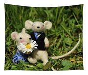 Family Mouse On The Spring Meadow .1. Tapestry
